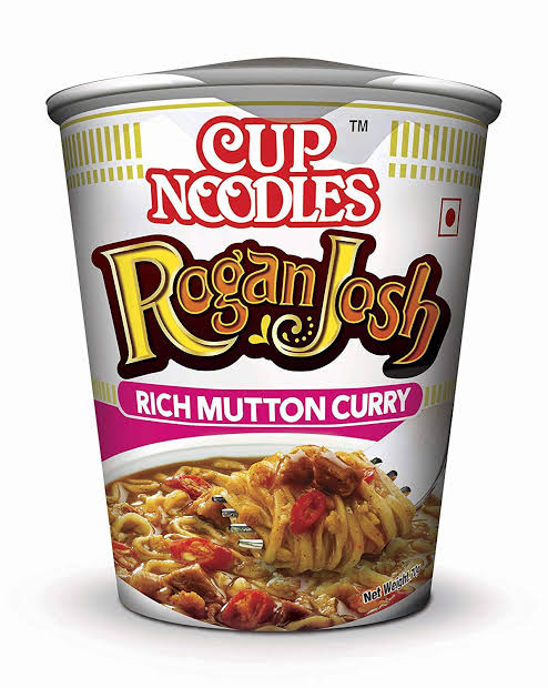 Top Raman Cup Noodles-Rogan Josh-Rich Mutton Curry