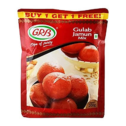 GRB DELICIOUS GULAB JAMUN MIX 200G BUY GET ONE