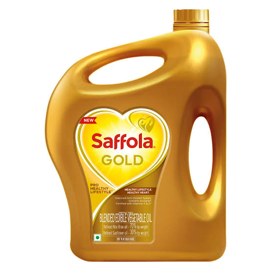 Saffola Gold, Pro Healthy Lifestyle Edible Oil, Jar - 5 LTR