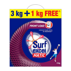 Surf Excel Matic Detergents Powder 3kg+1kg Free