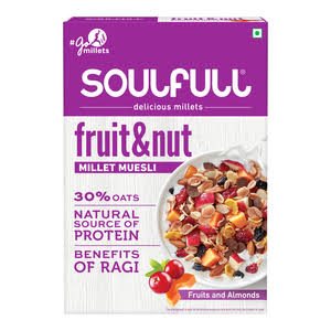 Soulfull Millet Muesli Fruit & Nut with Almonds & Real Fruits, 700g