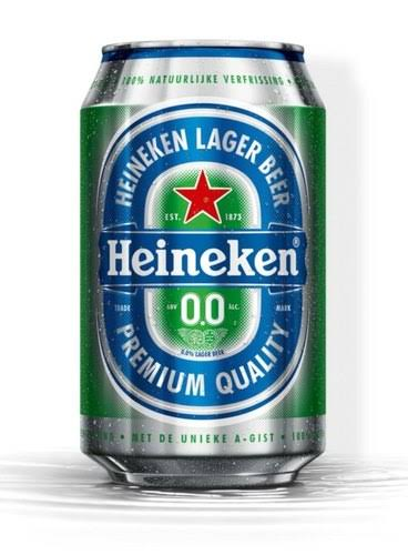 Heineken 0.0 Non Alcoholic Beer Can