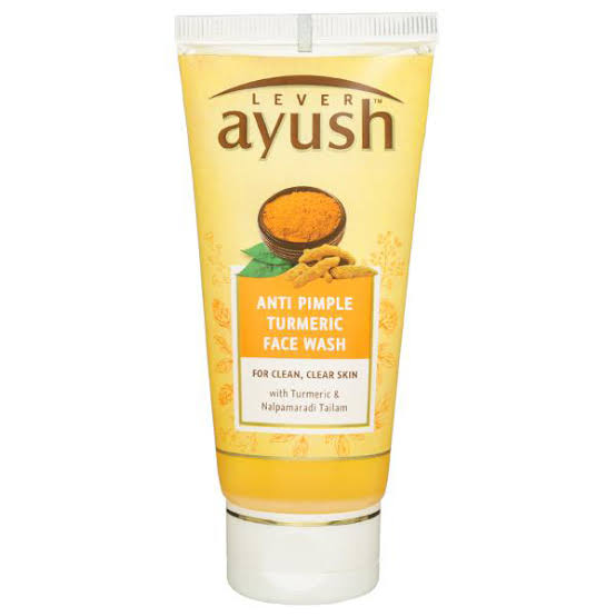 Lever Ayush Anti Pimple Turmeric Facewash 80g