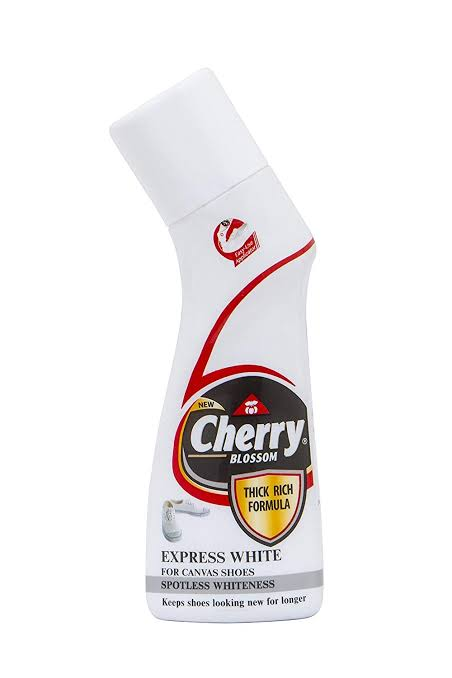 Cherry Blossom Canvas Shoe Cleaner White