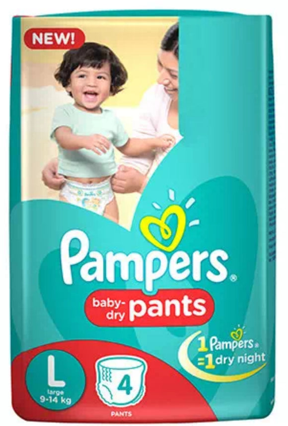 pampers baby -dry pants,large(9-14kg)