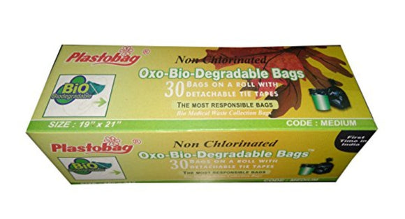 plastobag oxo bio degradable bags-black