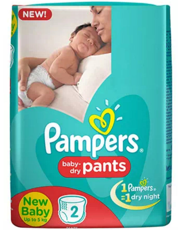 pampers baby-dry pants,new baby (upto 5kg),