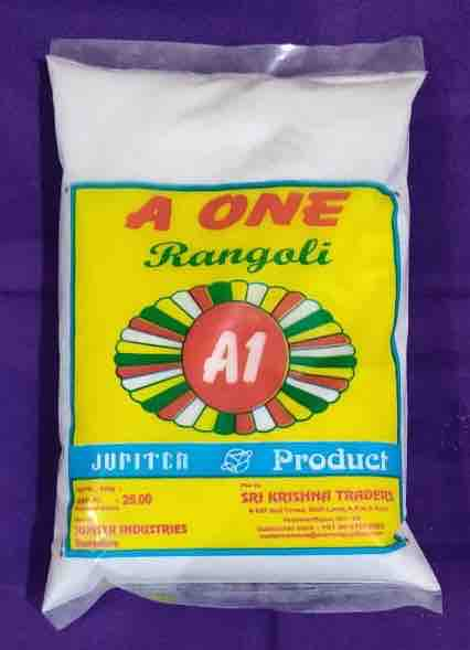 A ONE Dolomite Powder 1KG (Rangoli White)
