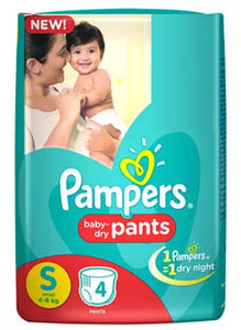 pampers baby-dry pants,small(4-8)kg