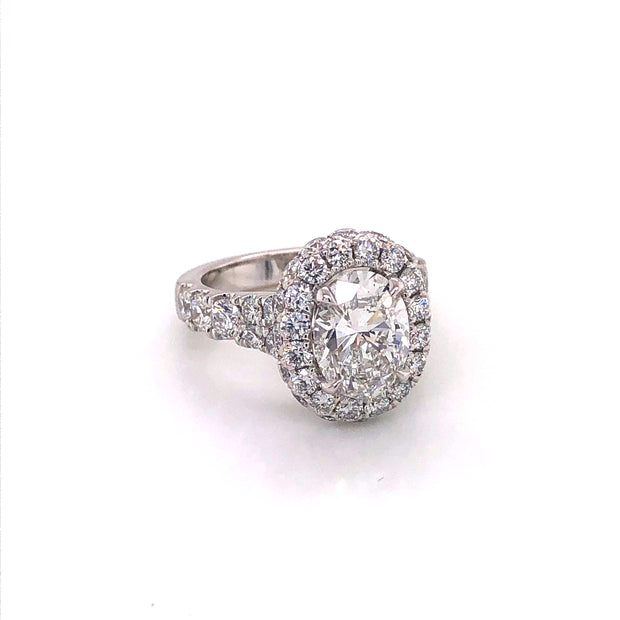 S-580 for Oval 2.00ct Center