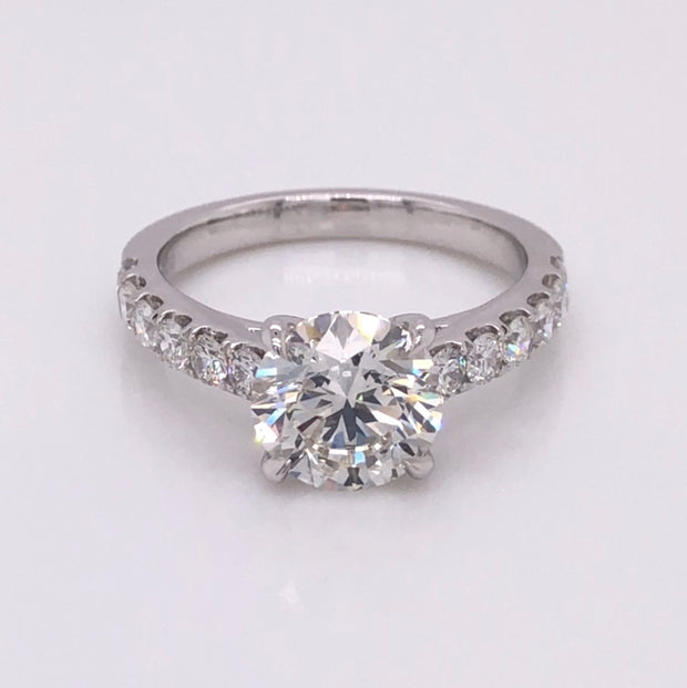 S-581 w/ 2.50ct Round Brilliant