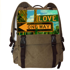 Backpack - Khaki, Love Image
