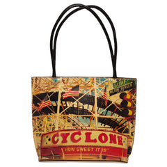 Leather Tote Bag - Red, Cyclone Image