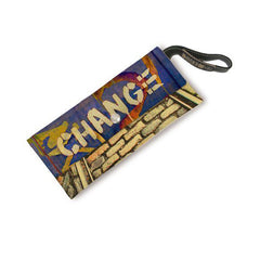 Leather Large Wrist Clutch - Change Image