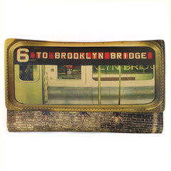 Leather Ladies Wallet - 6 to Brooklyn Bridge Image