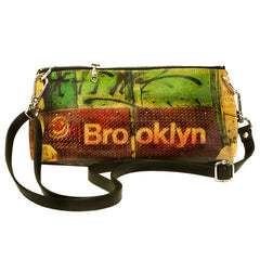 Leather Cross Body Clutch  - Black, Brooklyn Image