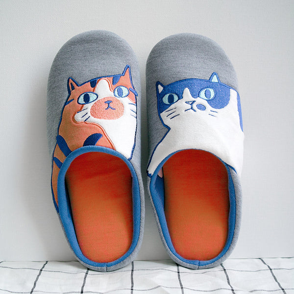 Sad Kitty Slippers