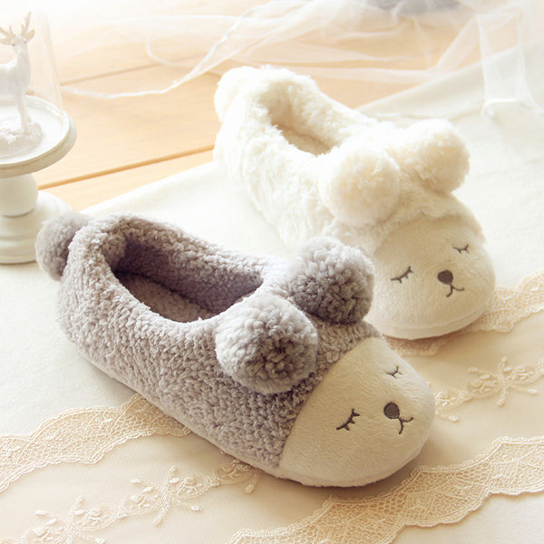 Eyes Closed Slippers