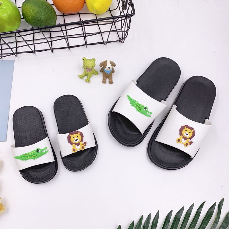 Lion & Alligator Toddler Slides