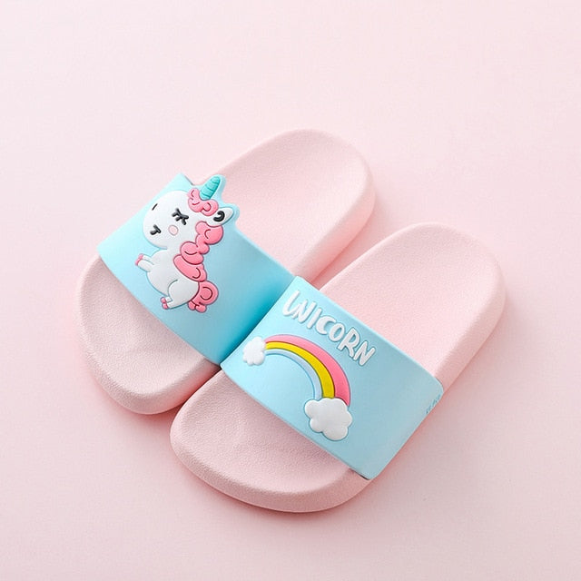 Unicorn Rainbow Baby Slides