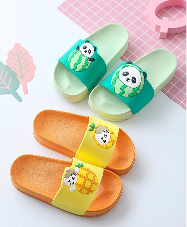 Pineapple Kitty Baby Slides