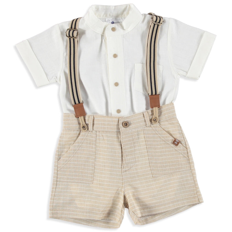 My Little Suspenders Baby Set