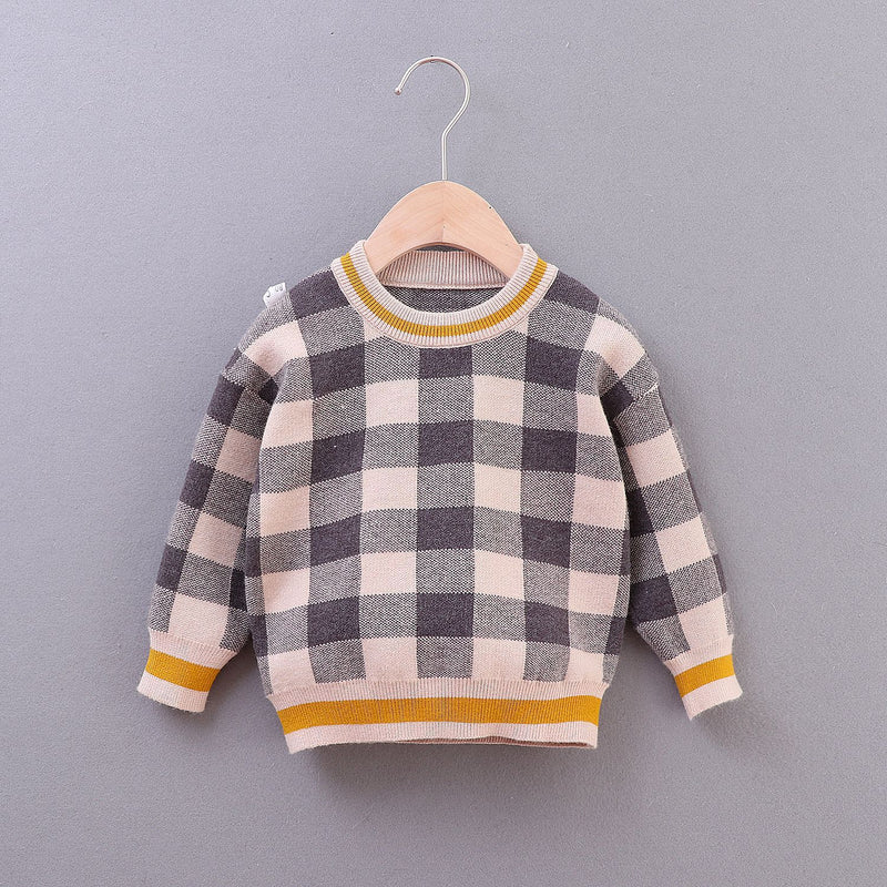 Baby Boy Plaid Pullover