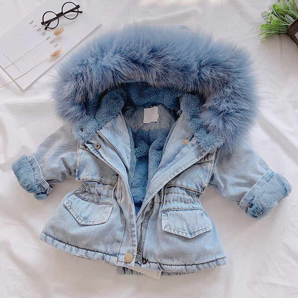 Denim Winter Baby Jacket