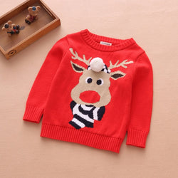 Deer My Red Winter Sweater