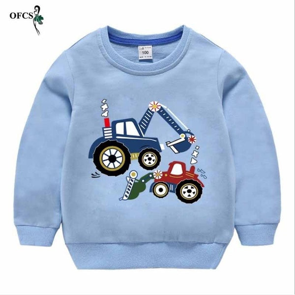 Little Trucker Baby Sweater