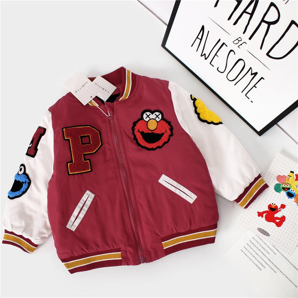 Elmo Baby Letterman Jacket