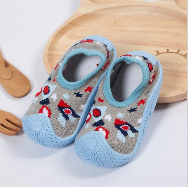 Sky Blue Sock Shoes