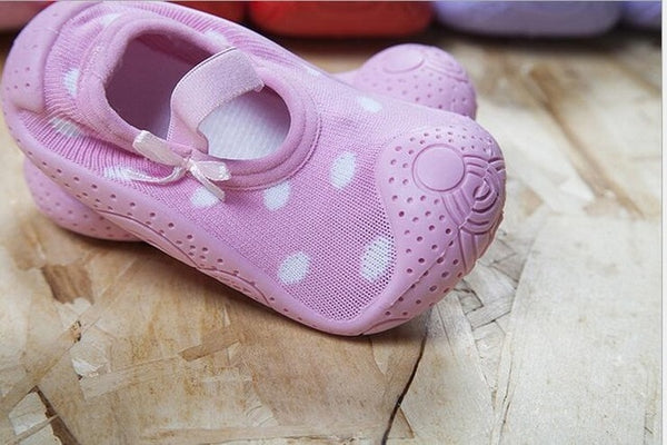 Pink Baby Girl Sock Shoes