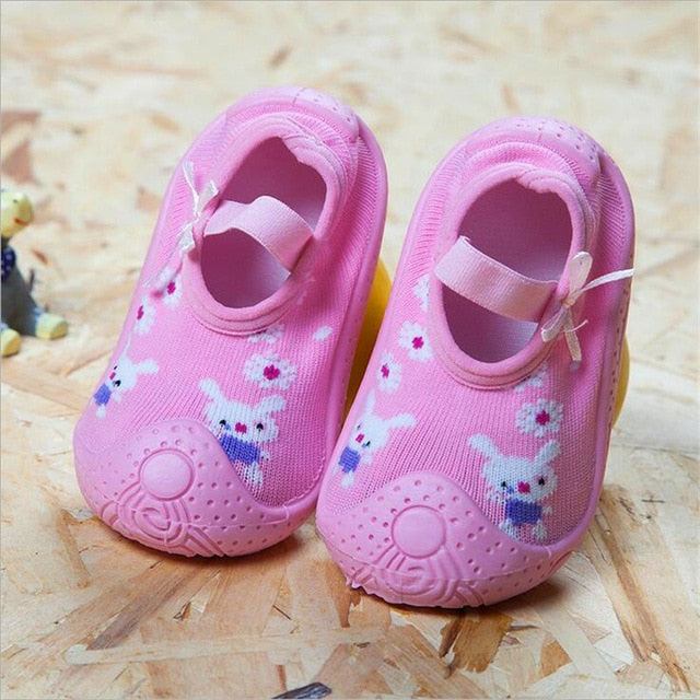 Bunny Baby Girl Sock Shoes