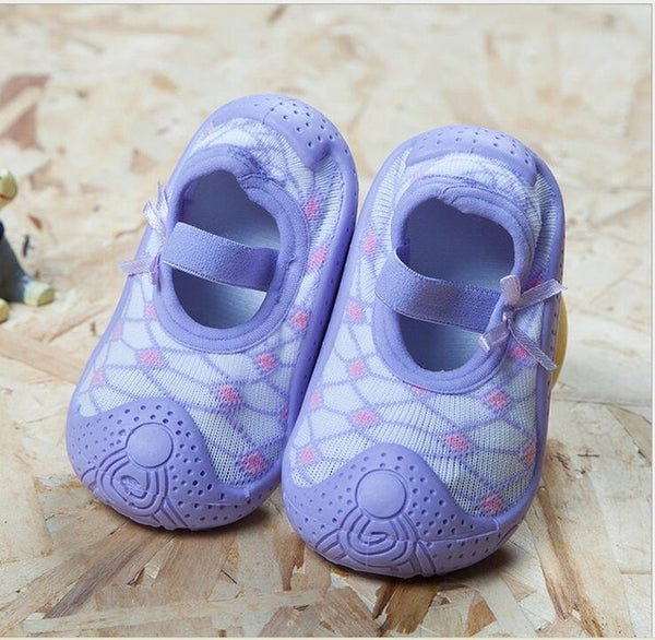 Purple Baby Girl Sock Shoes