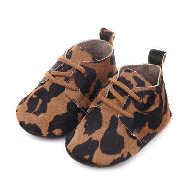 Animal Print Leather Baby Shoes