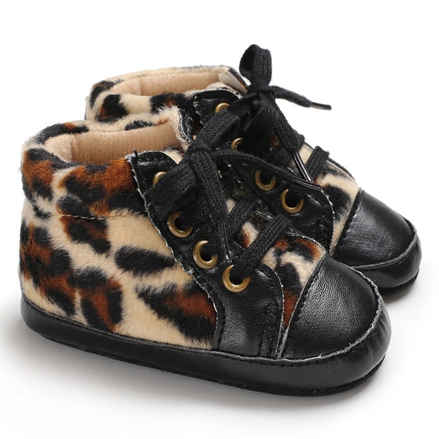 Leopard Swag Baby Shoes