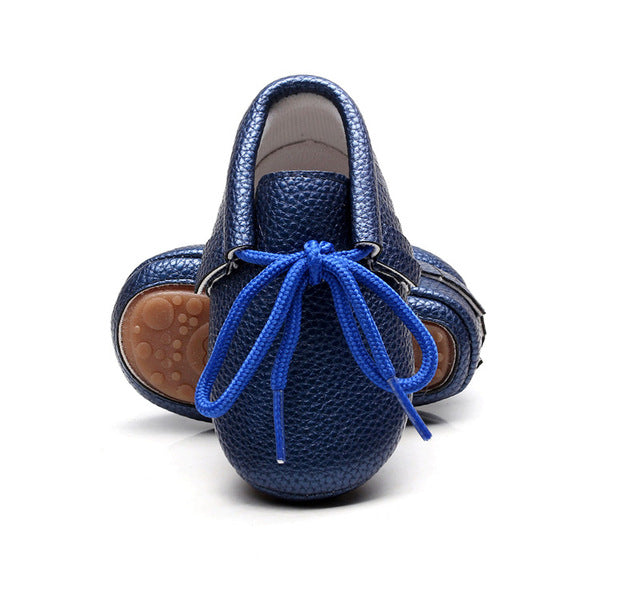 Leather Laced Up Baby Shoes