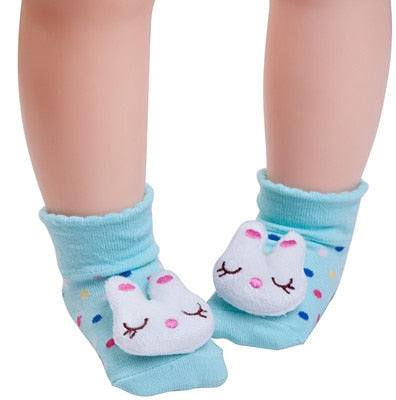 Blue Kitty Anti-slip Socks