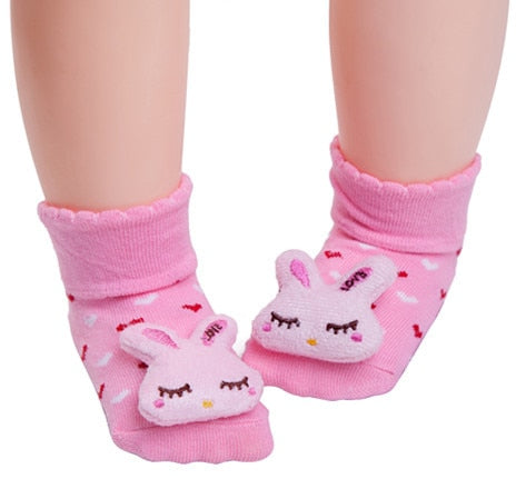 Pink Kitty  Anti-slip Socks