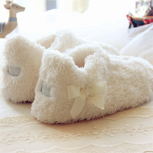 Soft Plush Happy Slippers