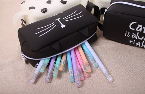 Super Cute Cat Gel Pencil Case - Cute Addictions