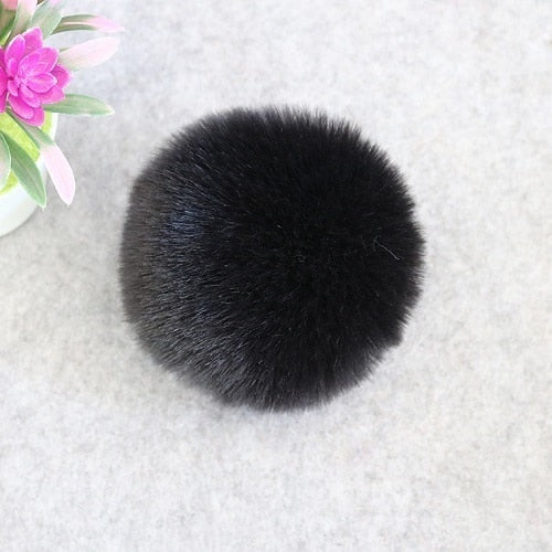 Soft and Fluffy Round Keychain Charm - Cute Addictions
