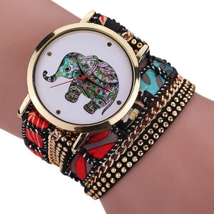 Rhinestone Elephant Quartz Bracelet Wrist Watch - Cute Addictions