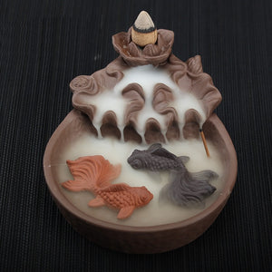 Koi Pond Backflow Incense Holder