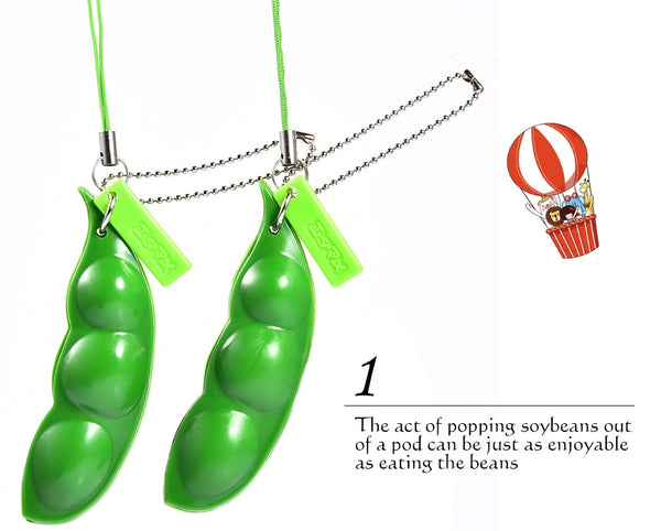 Fun Squishy Pea Pod/Stress Relief Key Chain - Cute Addictions