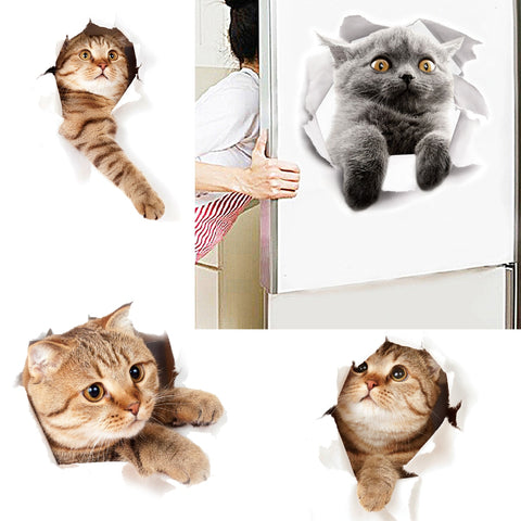 Cartoon Animal 3D Stickers Decals - Cute Addictions