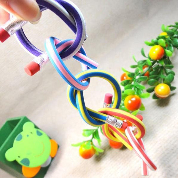 Colorful Flexible/Bendable Pencil - 5pc - Cute Addictions