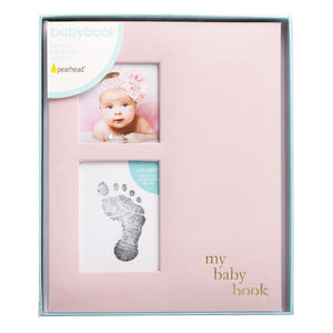 Pearhead Linen Baby book