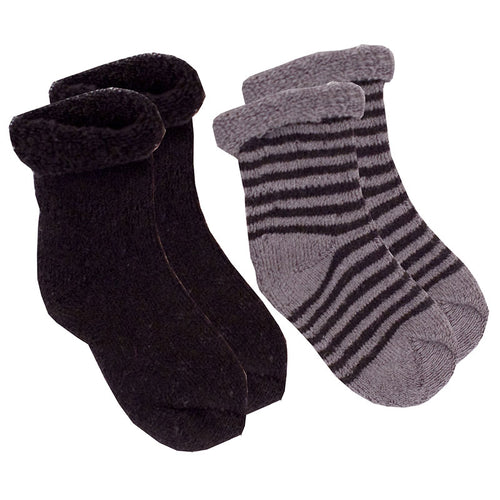 Kushies Terry Newborn Socks - 2 Pack